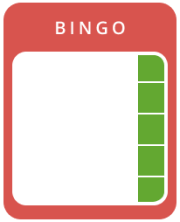 1 Line Vertical in Online Bingo
